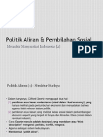 Menafsir Masyarakat Indonesia [2] - Politik Aliran & Pembilahan Sosial.pptx