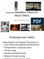 Andrew Goodwins Theory on Music Videos