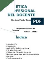 Etica Profesional Del Docente
