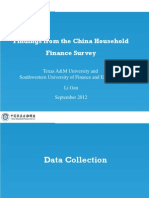 Findings From The China Household Finance Survey