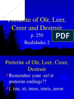 p250 oír, creer, leer, destruir