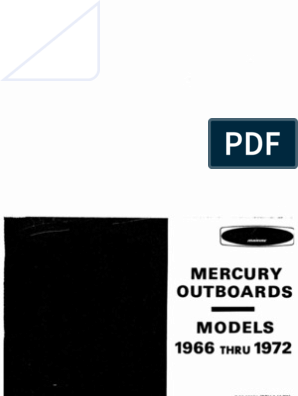 Mercury Manual All 1962-1972 | Propeller | Electrical Connector