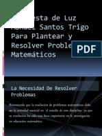 Propuesta de Luz Manuel Santos Trigo Para Plantear