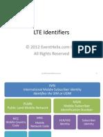 LTE Identifiers