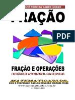 FRAÇÃO -EXERCÍCIOS DE APRENDIZAGEM 2.ª EDIÇÃO - COM RESPOSTAS