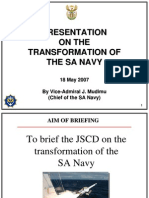070518 Transformation of the SA Navy