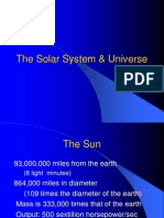 The Solar System & Universe
