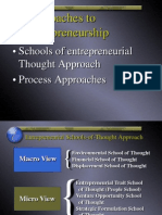 Approaches to Entrepreneurship