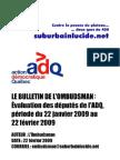 Bulletin de l'Ombudsman 22 fév. 2009