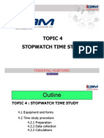 Topic 4 Stopwatch Time Study