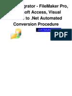 FmPro Migrator DotNet Conversion Procedure