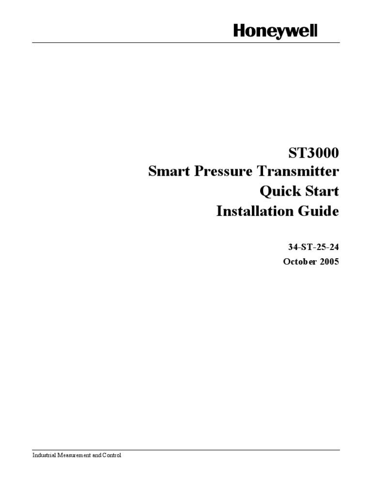Honeywell Pressure Transmitter Installation Manualpdf Smart Vfd Manual Electrostatic Discharge Electrical Wiring