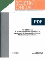 Reglamento de Construcción - Hermosillo 2012