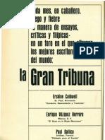 Ensayos literarios y críticas. La gran tribuna. Febrero1966.