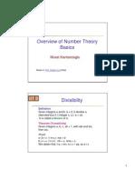Overview NumbeTheory Basics