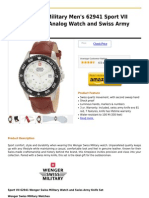 Wenger Swiss Military Men's 62941 Sport VII Brown Leather Analog Watch and Swiss Army Knife Gift Set