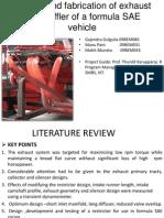 Exhaust and Muffler Design of a Formula SAE car