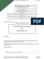 Deutsche Bank Natl. Trust Co. v Haque w