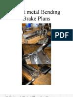 sheet metal bending brake plans