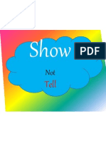 show not tell ideas for words