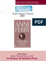 Anne Perry - Série Pitt 05 - Os roubos de Ruthland Place