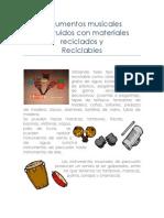 Instrumentos Musicales Construidos Con Materiales Reciclados y