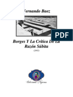 2002 - Fernando Baez _ Borges Y La Crítica De La Razón Súbita (Artículo)
