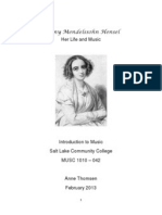 fanny mendelssohn biography