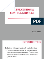 Fire prevention and control services