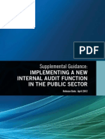 SG - Implementing a New Internal Audit Function