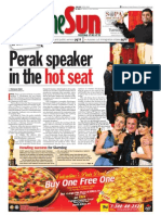 thesun 2009-02-24 page01 perak speaker in the hot seat