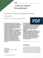 La Reflexion como Eje Del Desarrollo Profesional