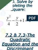 7.2TheQuadraticFormula