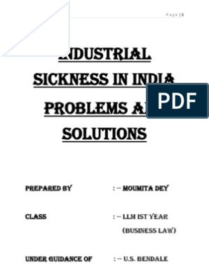 industrial sickness ppt