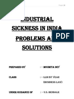 industrial sickness ppt