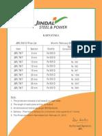 JSPL Tmt Price Karnataka