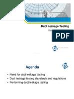 NEBB Duct Leakage Presentation