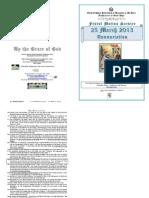 2013 - 25 Mar - Annunciation