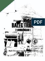 Monograph Series of the Baleg (Lambangian) Tribe