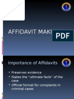 Affidavit Making
