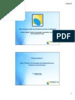 Solar Thermal Applications Presentation