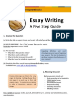 Essay Writing - A Five Step Guide