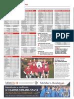 Publicación de las clasificaciones de las ligas Futbolcity en Superdeporte. Miércoles 27 de febrero 2013