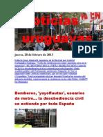 Noticias Uruguayas Jueves 28 de Febrero Del 2013