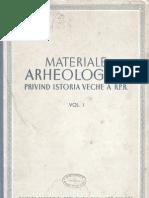 Materiale si Cercetari Arheologice I 1953
