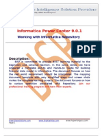 Informatica Working With Repository