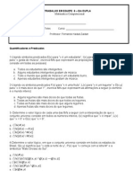 Exercicios 6- Quantificadores e Predicados