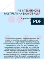 AS INTELIGÊNCIAS MÚLTIPLAS NA SALA-DE-AULAmr