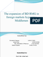 expansion of bd rmg in foreign markets bypassing middlemen