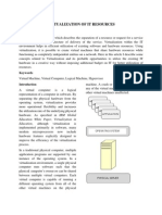 Virtualization of IT Resources - Final
